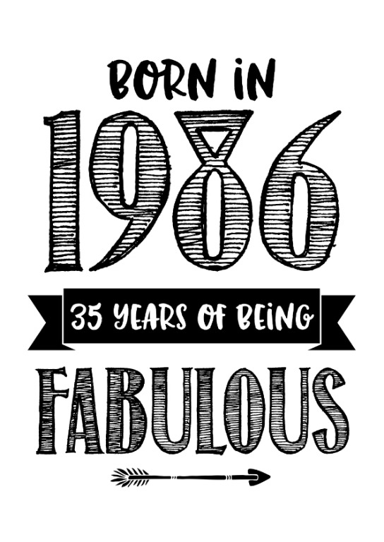 Born in 1986 - 35 years of being fabulous